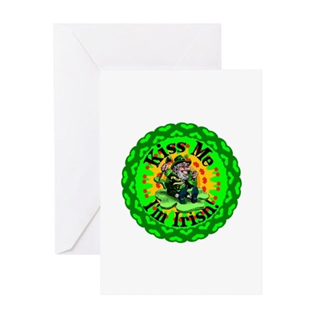 Kiss Me Irish Leprechaun Greeting Card
