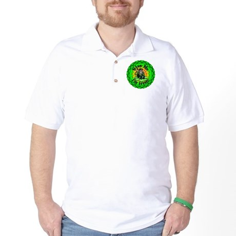 Kiss Me Irish Leprechaun Golf Shirt