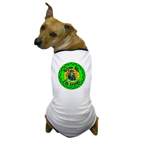 Kiss Me Irish Leprechaun Dog T-Shirt