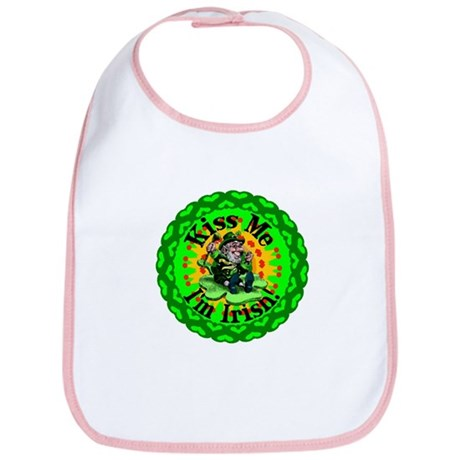 Kiss Me Irish Leprechaun Bib