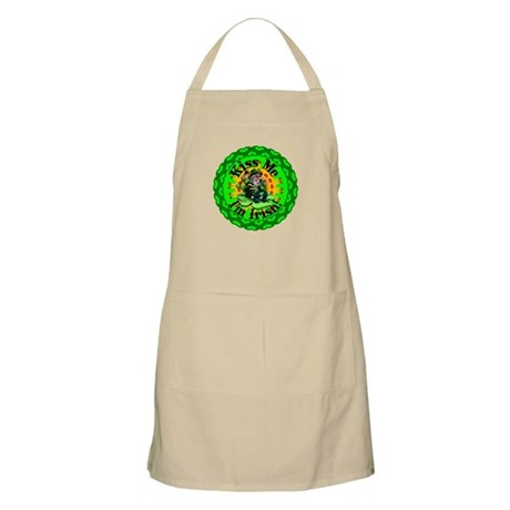 Kiss Me Irish Leprechaun BBQ Apron