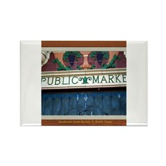 Henderson Street Market Rectangle Magnet