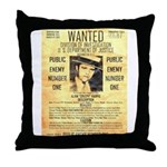 Wanted Creepy Karpis Throw Pillow