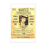 Wanted Creepy Karpis Mini Poster Print