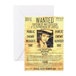 Wanted Creepy Karpis Greeting Cards (Pk of 10)