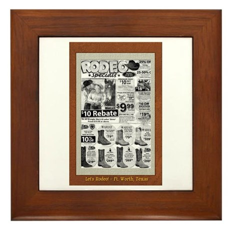 Let's Rodeo! Framed Tile