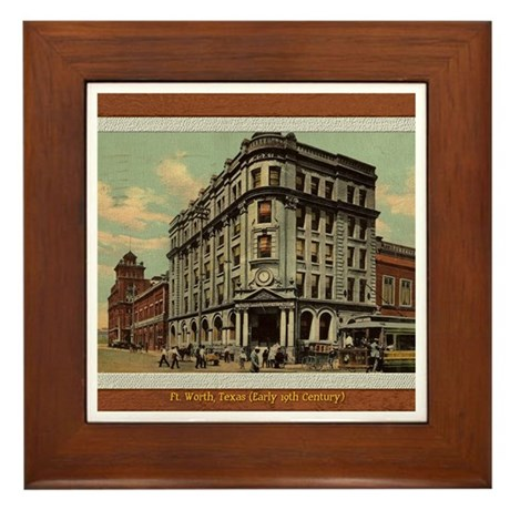 Old Fort Worth Framed Tile