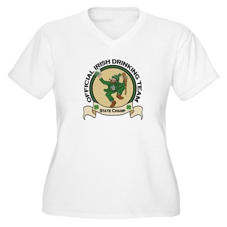 Official Irish Drinking Team Women's Plus Size V-N