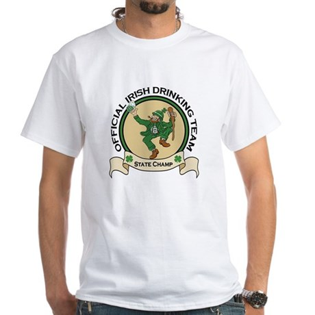 Official Irish Drinking Team White T-Shirt
