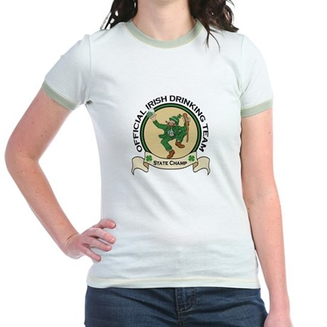 Official Irish Drinking Team Jr. Ringer T-Shirt