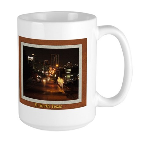 Fort Worth Skyline - Night Large Mug