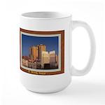Fort Worth Skyline - Day Large Mug