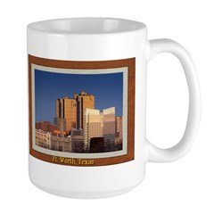 Fort Worth Skyline - Day Large Mug