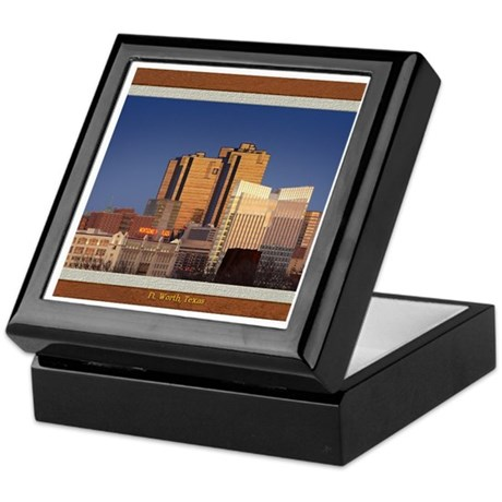 Fort Worth Skyline - Day Keepsake Box