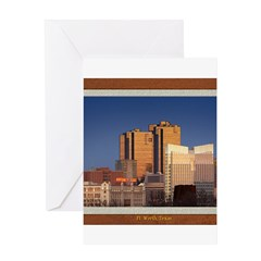 Fort Worth Skyline - Day Greeting Card