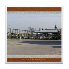 Stockyards #3 Tile Coaster