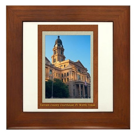 Tarrant County Courthouse Framed Tile