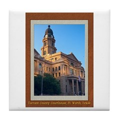 Tarrant County Courthouse Tile Coaster
