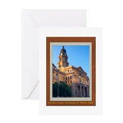 Tarrant County Courthouse Greeting Card