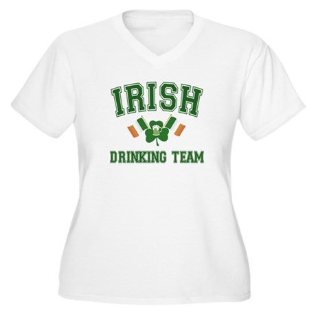 Irish Drinking Team Women's Plus Size V-Neck T-Shi