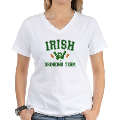 Irish Drinking Team Women's V-Neck T-Shirt