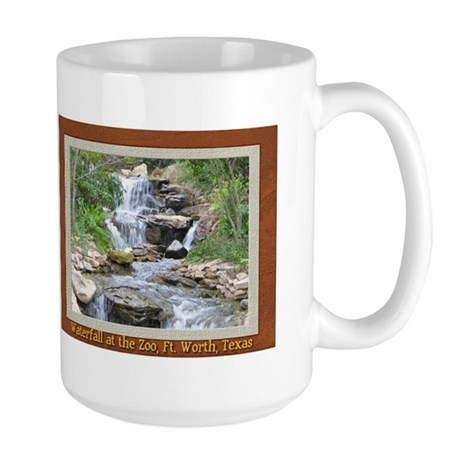 Waterfall at the Zoo Large Mug 