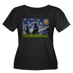 Starry Night FCR Women's Plus Size Scoop Neck Dark
