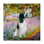 Monet's garden & Springer Tile Coaster