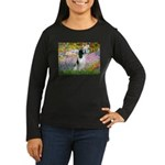 Monet's garden & Springer Women's Long Sleeve Dark