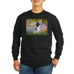 Monet's garden & Springer Long Sleeve Dark T-Shirt