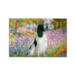 Monet's garden & Springer Rectangle Magnet