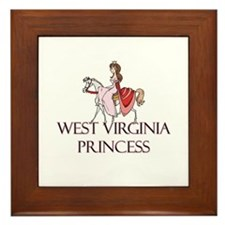 West Virginia Princess Framed Tile