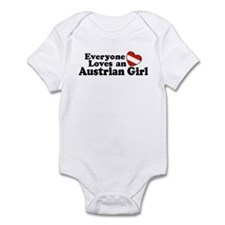 Everyone Loves an Austrian Girl Infant Bodysuit