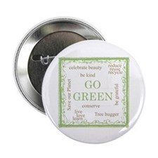"""Go Green! 2.25"""" Button (100 pack)"""