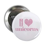 "i love unicorns (pink) 2.25"" Button (100 pack)"