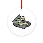 Auto Service Keepsake (Round)
