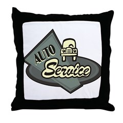 Auto Service Throw Pillow