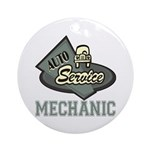 Mechanic Auto Service Keepsake (Round)