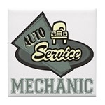 Mechanic Auto Service Tile Coaster