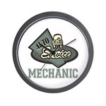 Mechanic Auto Service Wall Clock