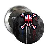 "British Punk Skull 2.25"" Button"