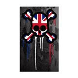 British Punk Skull Decal