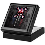 British Punk Skull Keepsake Box