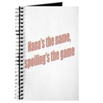 Nana's the name Journal