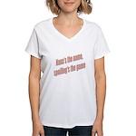 Nana's the name Women's V-Neck T-Shirt