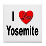 I Love Yosemite Tile Coaster