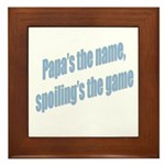 Papa's the name Framed Tile