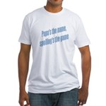 Papa's the name Fitted T-Shirt