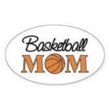 Basketball Mom Oval Bumper Stickers