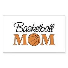 Basketball Mom Rectangle Decal